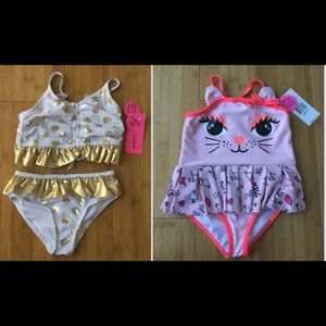 ✨NWT✨💕 2 Betsey Johnson Toddler 2 Swimsuits💕